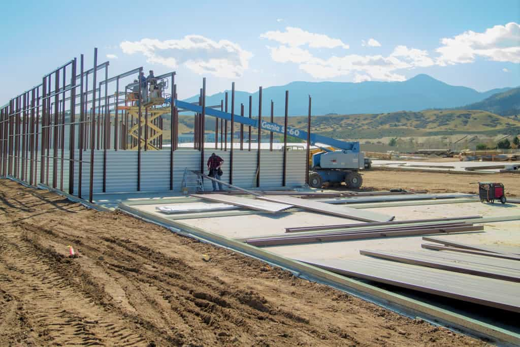 FGS Commercial new build - Garden of the Gods Storage in Colorado Springs, Colorado - adding steel beams
