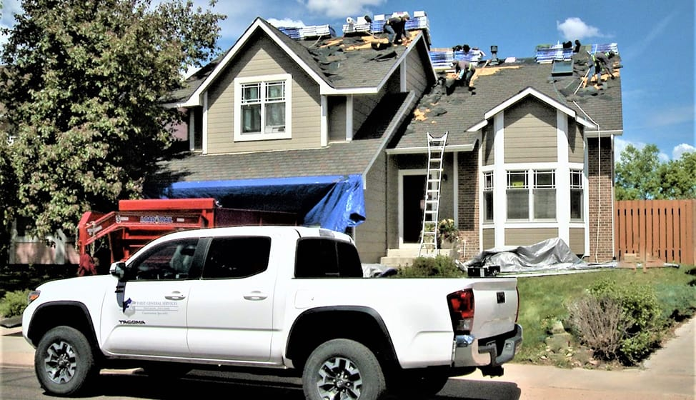 Roof replacement by First General Services.