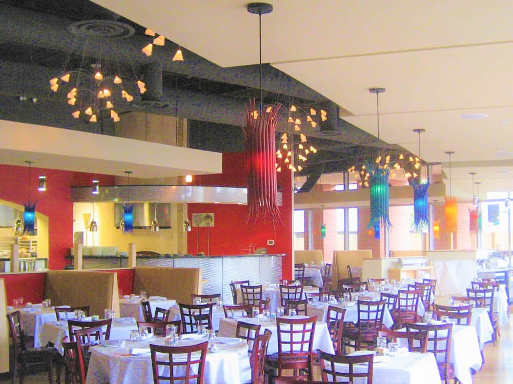 FGS Commercial Build-Out of Sirenuse restaurant in Denver, Colorado - dining area after