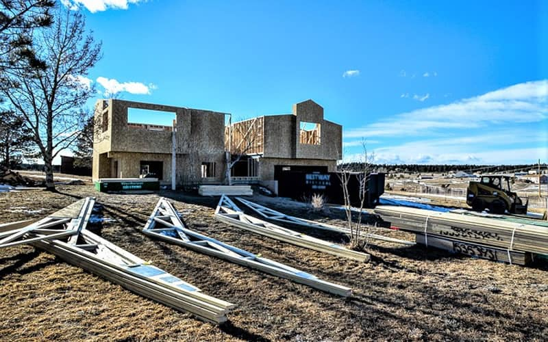 Fire damaged home restoration in Colorado Springs by CMS and FGS - reconstruction progress