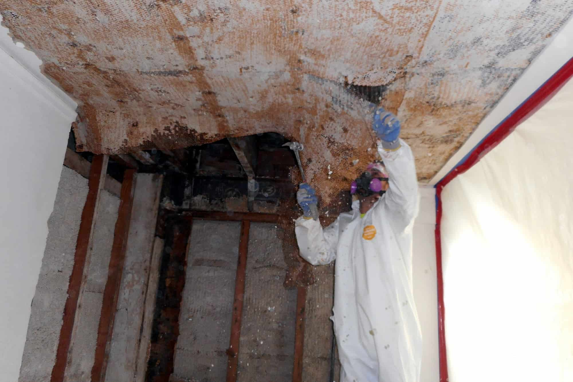 Powers Environmental specialists safely remove asbestos, which can be found in popcorn ceilings